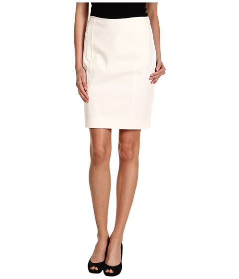 Fuste DKNY - Pencil Skirt w/ Front Pockets - Ivory