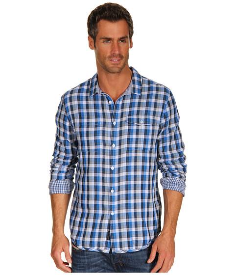Tricouri Calvin Klein - Flicker Plaid L/S Woven - Victory Blue
