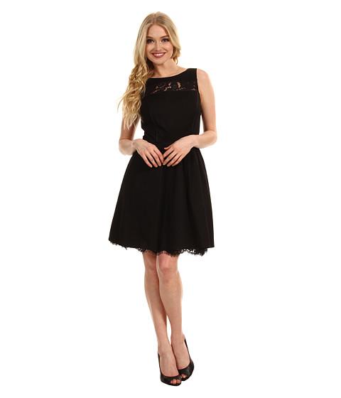 Rochii Jessica Simpson - Sleeveless Scoop Back Dress w/ Lace Contrast - Black