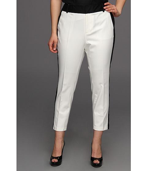Pantaloni Calvin Klein - Plus Size Side Stripe Pant - Ivory