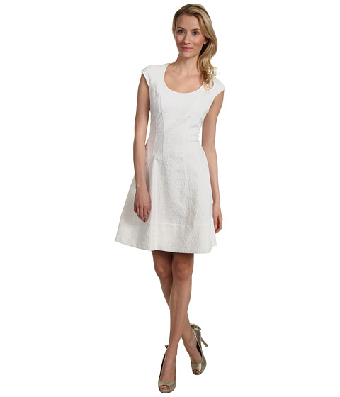 Rochii Vince Camuto - Short Sleeve Fit & Flare Dress - White
