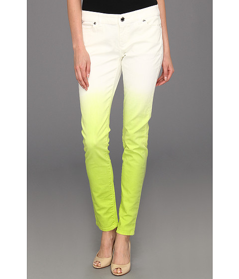 Blugi Michael Kors - Dip Dyed Skinny Jean - White/Pear