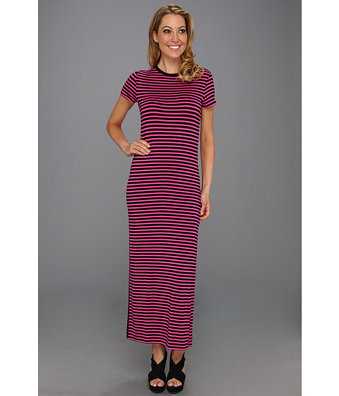 Rochii Michael Kors - Jardin Strape Sleeve Long Dress - Neon Pink