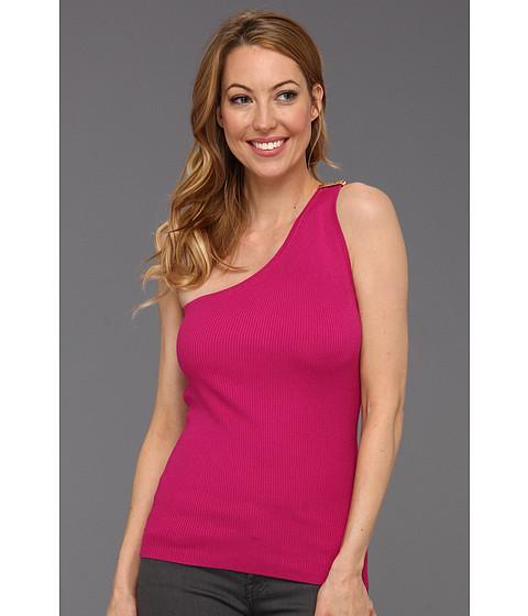 Bluze MICHAEL Michael Kors - Rib One Shoulder Sweater - Radiant Pink