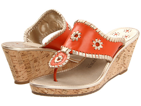 Sandale Jack Rogers - Del Mar Navajo Mid Cork - Orange/Platinum
