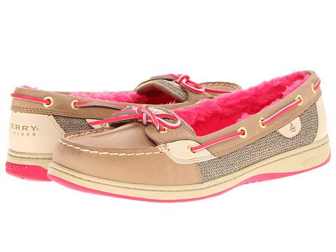 Pantofi Sperry Top-Sider - Angelfish - Linen/Neon Pink (Fur)