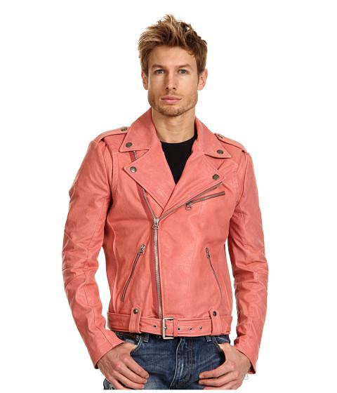 Geci Pierre Balmain - Studded Leather Jacket - Peach