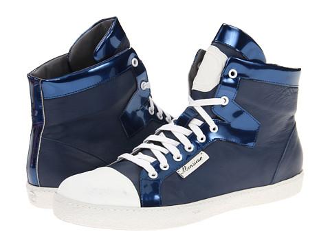 Adidasi Viktor & Rolf - High Top Metallic Trainer - Blue/Blue
