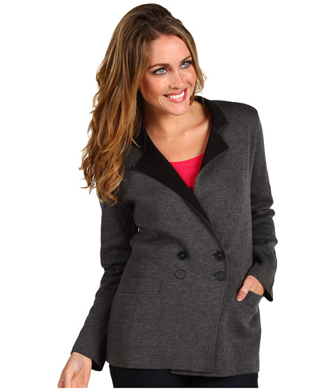 Geci NIC+ZOE - Out the Door Knit Jacket - Graphite Heather