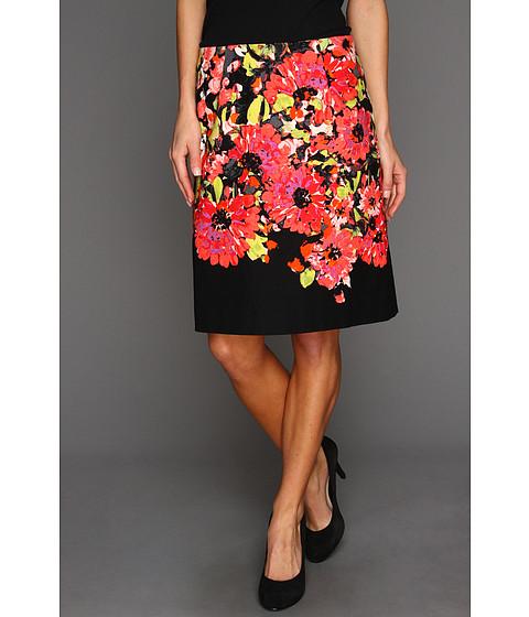 Fuste NIC+ZOE - Peek-A-Boo Floral Print Pencil Skirt - Multi