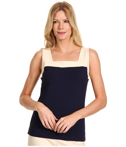 Tricouri NIC+ZOE - Two Tone Tank - Peacoat