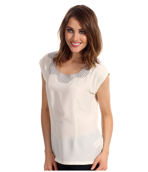 Bluze NIC+ZOE - Fresh Vintage Embroidered Top - Bone