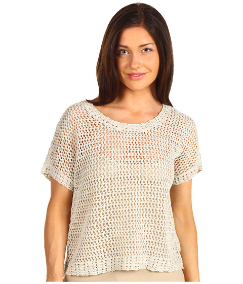 Bluze NIC+ZOE - Netted Top - Flaxseed Mix