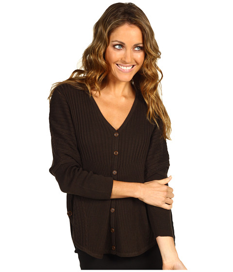 Pulovere NIC+ZOE - Cable Dolman Cardy - Peppercorn