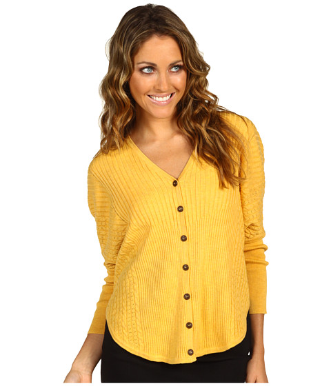 Pulovere NIC+ZOE - Cable Dolman Cardy - Sunflower