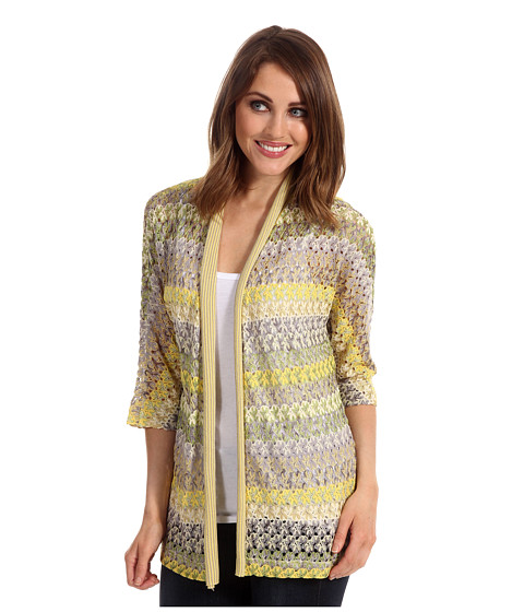 Pulovere NIC+ZOE - Fresh Lacy Weave Cardy - Multi