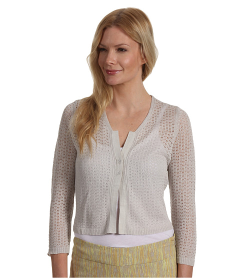 Pulovere NIC+ZOE - Fresh Pretty Pointelle Cardy - Silver