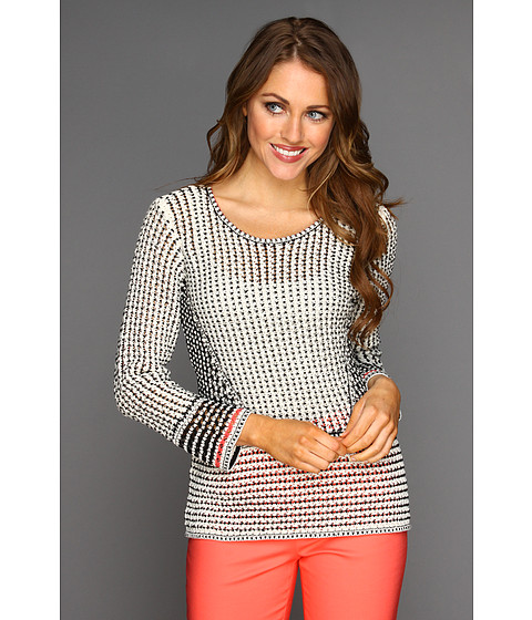 Pulovere NIC+ZOE - Peek-A-Boo Tipped Mix Top - Multi