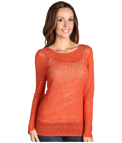 Pulovere NIC+ZOE - Pointelle Pattern Sweater - Amber