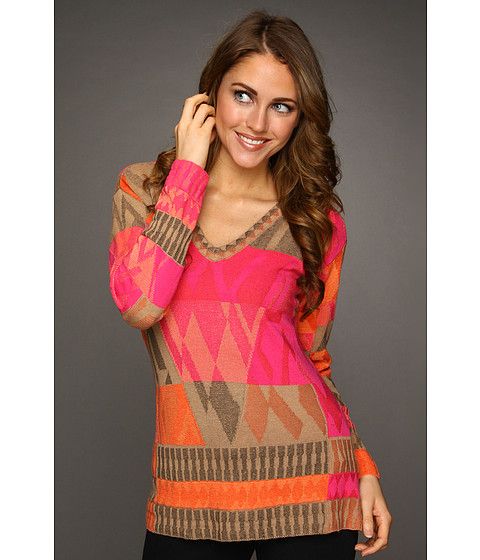 Pulovere NIC+ZOE - Tropical Deco Coral Reef Top - Multi