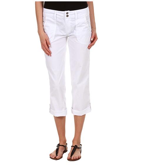 Pantaloni Sanctuary - Poplin Capri - White