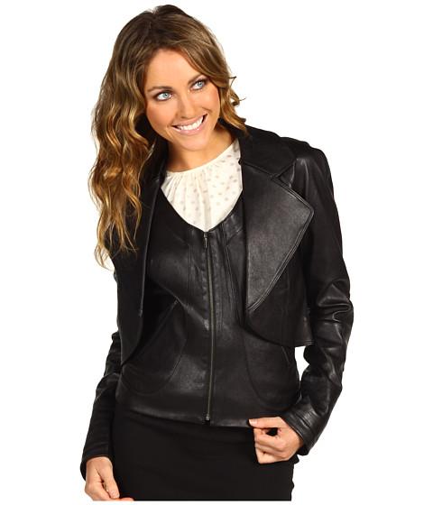 Geci Miha - Double Layered Leather Jacket - Black