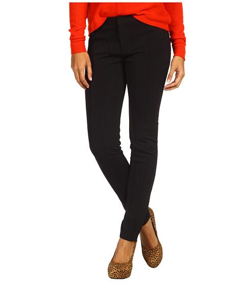 Pantaloni Miha - Lennis Pant w/ Leather Combo - Black