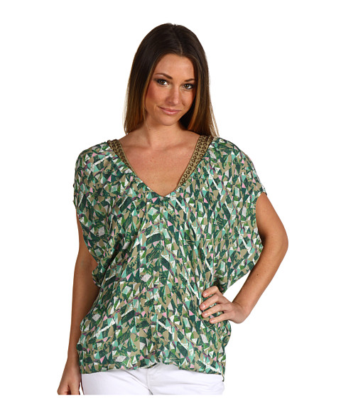Bluze Miha - Printed Shelley Top - Green Multi