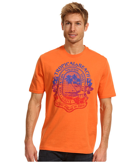 Tricouri Caribbean Joe - Tropical Beach Tee - Tropical Orange