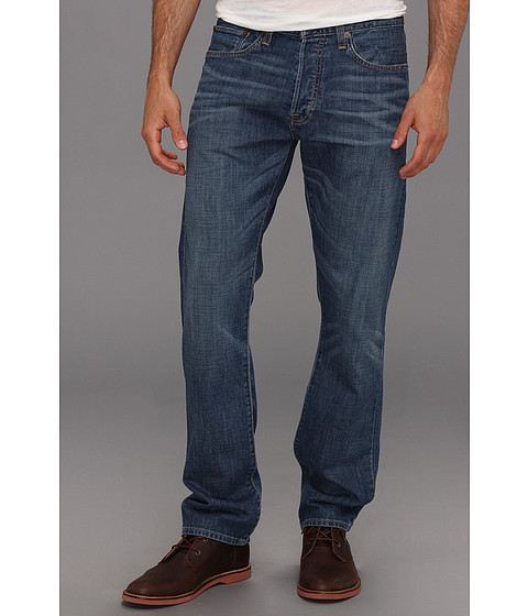 Blugi Lucky Brand - 121 Heritage Slim in Dry Stain Rub Wash - Dry Stain Rub Wash
