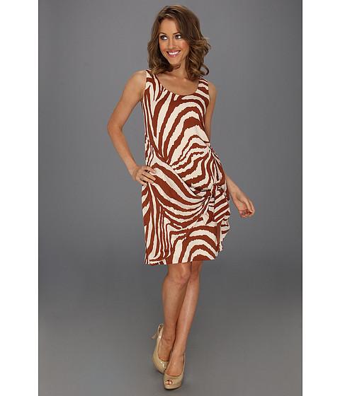 Rochii Anne Klein New York - Animal Stripe Sarong Dress - Pottery Multi