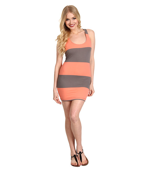 Rochii Vans - Seacoast Stripe Dress - Fusion Coral