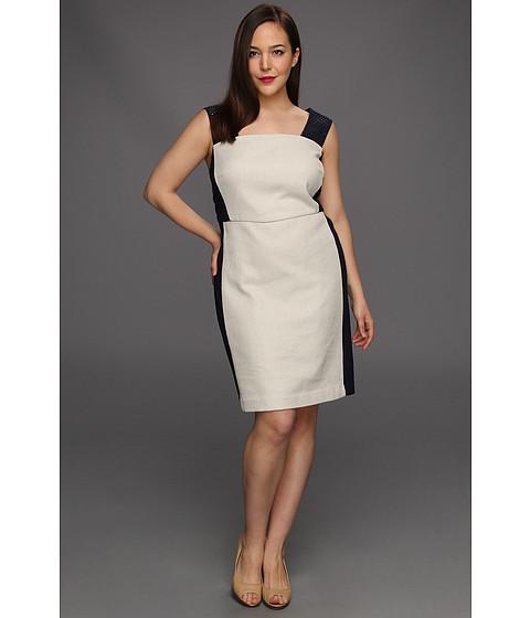 Rochii DKNY - Plus Size Cap Sleeve Dress w/ Eyelet Straps - Stone