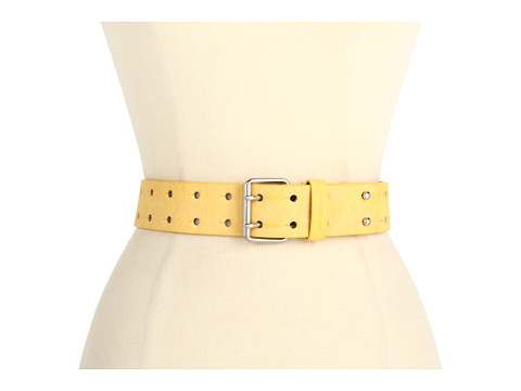 Curele Calvin Klein - Calvin Klein 40MM Panel w/ Perf and Double Prong - Yellow