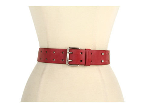 Curele Calvin Klein - Calvin Klein 40MM Panel w/ Perf and Double Prong - Red