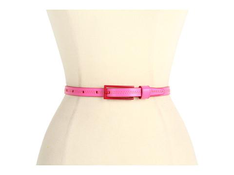 """Curele Calvin Klein - Calvin Klein 5/8\"""" Enamel Buckle on Panel - Pink"""