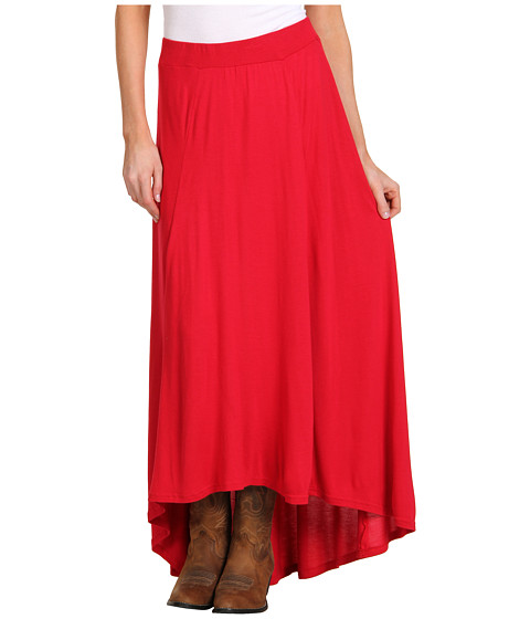 Fuste Roper - Hot House Blooms Hi Low Skirt - Red