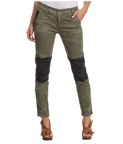 Pantaloni Free People - Patched Twill Herringbone Pant - Military