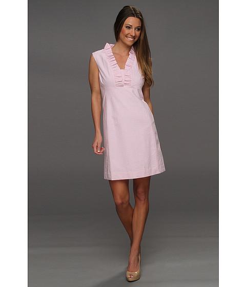 Rochii Lilly Pulitzer - Adeline Dress - Hotty Pink Lucky Seersucker