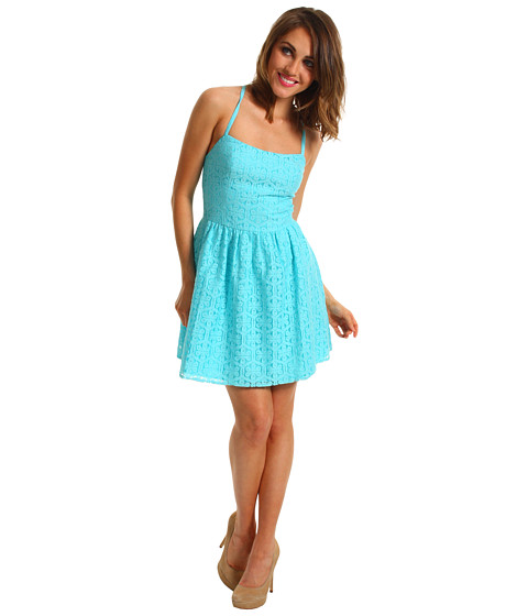 Rochii Lilly Pulitzer - Elisse Dress - Shorely Blue Daisy Lane Lace