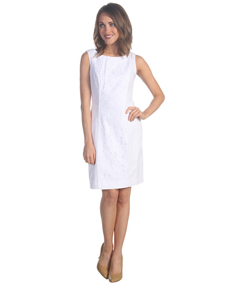 Rochii Lilly Pulitzer - Idola Dress - Resort White Pique Lace