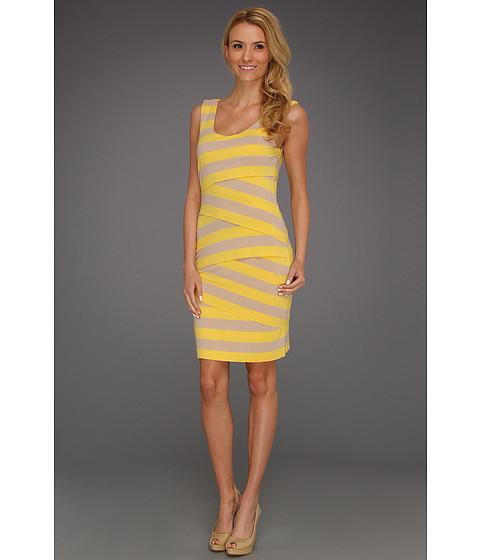 Rochii Vince Camuto - Zigzag Bandage Stripe Tank Dress - Lemonade