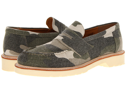 Pantofi Dr. Martens - Ablett Penny Loafer - Beige Washed Out/Camo Canvas