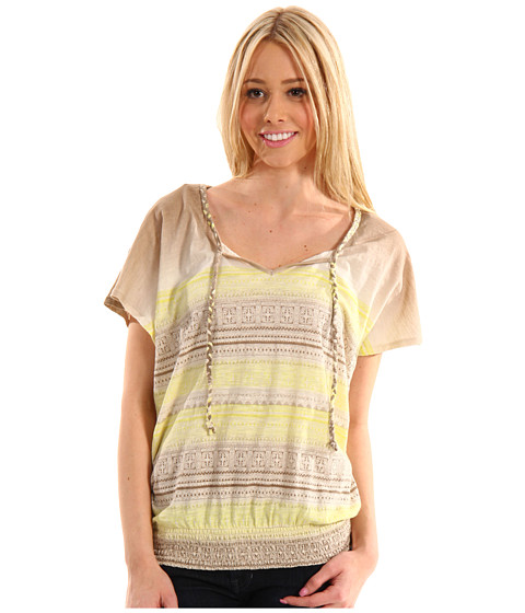Bluze Lucky Brand - Mayan Georgina Top - Yellow Multi