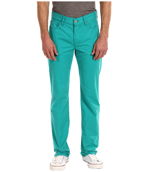 Pantaloni 7 For All Mankind - Standard Straight Leg Colored Weft Twill - Teal Blue