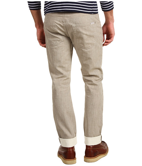 Pantaloni 7 For All Mankind - The Straight White Weft Denim - Coconut