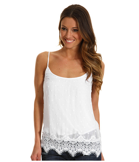 Bluze Lucky Brand - Country Mart Swiss Dot Tank - White