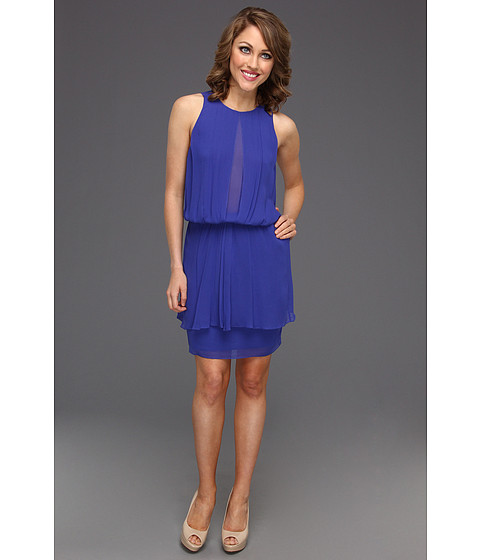 Rochii Nicole Miller - Viscose High Neck Dress - Blueberry