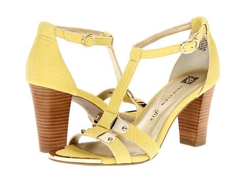 Pantofi Anne Klein New York - Giulietta - Yellow Leather