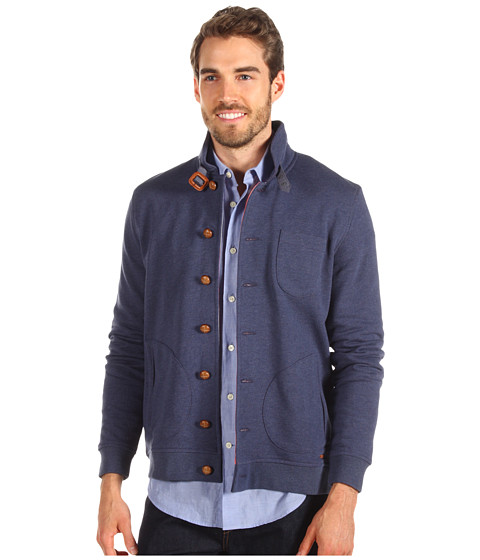 Bluze Ted Baker - Folded Stand Collar L/S Sweatshirt - Navy